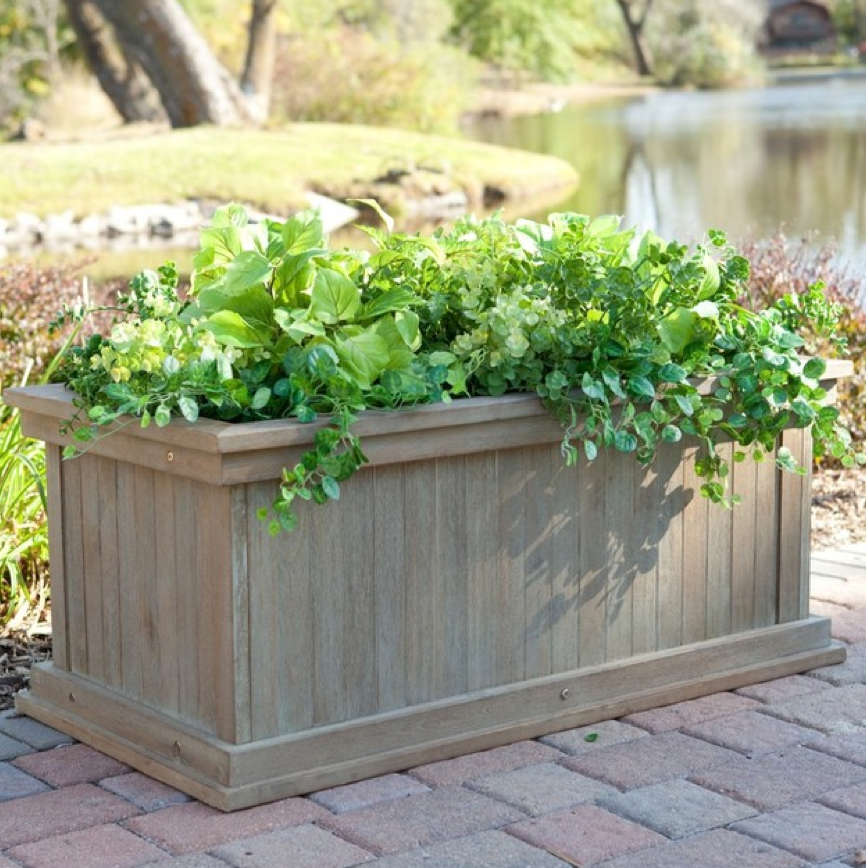 Large wooden garden planter 6 feet by 3 feet by 2 feet for Large garden planter ideas