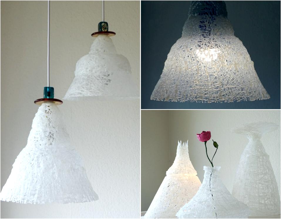 Lampadario, lampadari, lampada, lampade, lumi. Alessandra Fabre Repetto Roma Hot Glue Lamp And Vases Hot Glue Decoration Hot Glue Pendant Light Lampada A Lampade A Sospensione Lampade Lampade Di Carta