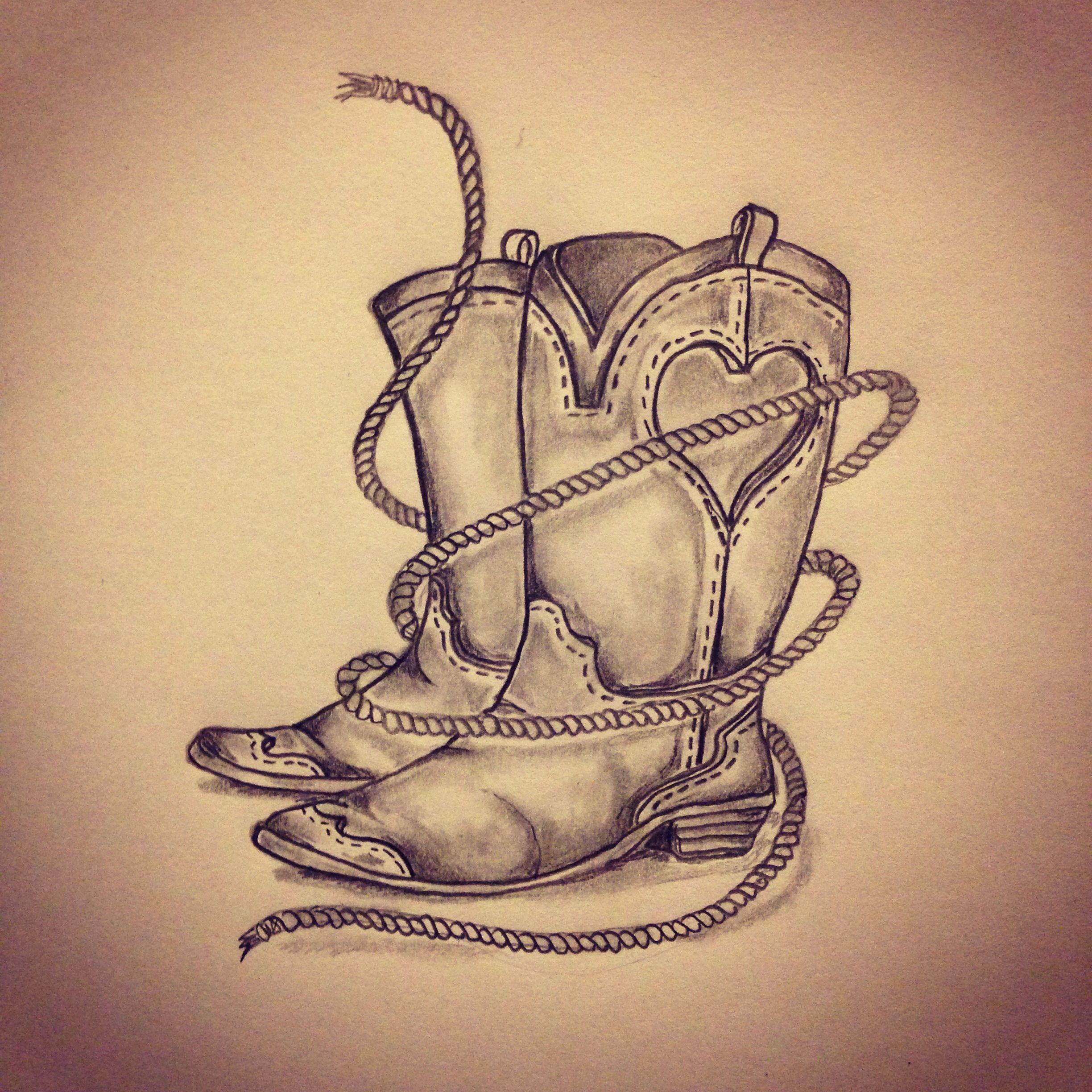 Cowgirl boots / Rope by - Ranz | Pinterest | Cowgirl boot, Tattoo ...