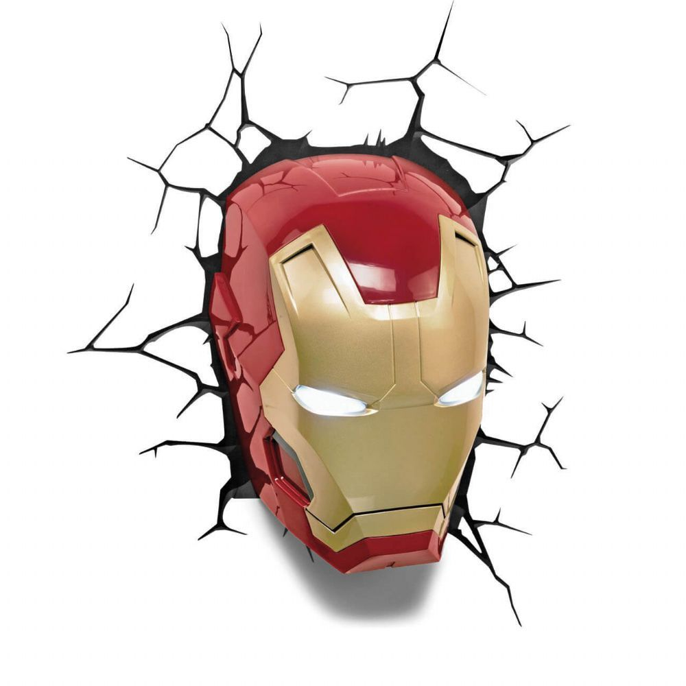Iron Man Face Wall Light Decoration Stunning Kids Room Express Dispatch Worldwide Shipping 60 Days Returns Policy