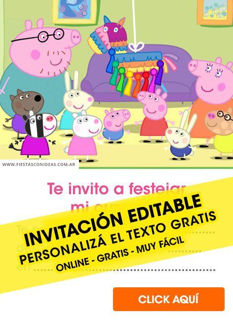 Tarjeta De Cumpleaños De Peppa Pig En 2019 Invitaciones De