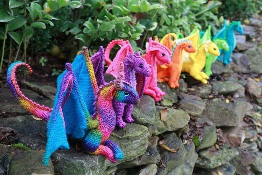 Crochet Dragon Pattern Ideas By Megan Lapp From Crafty Intentions ...