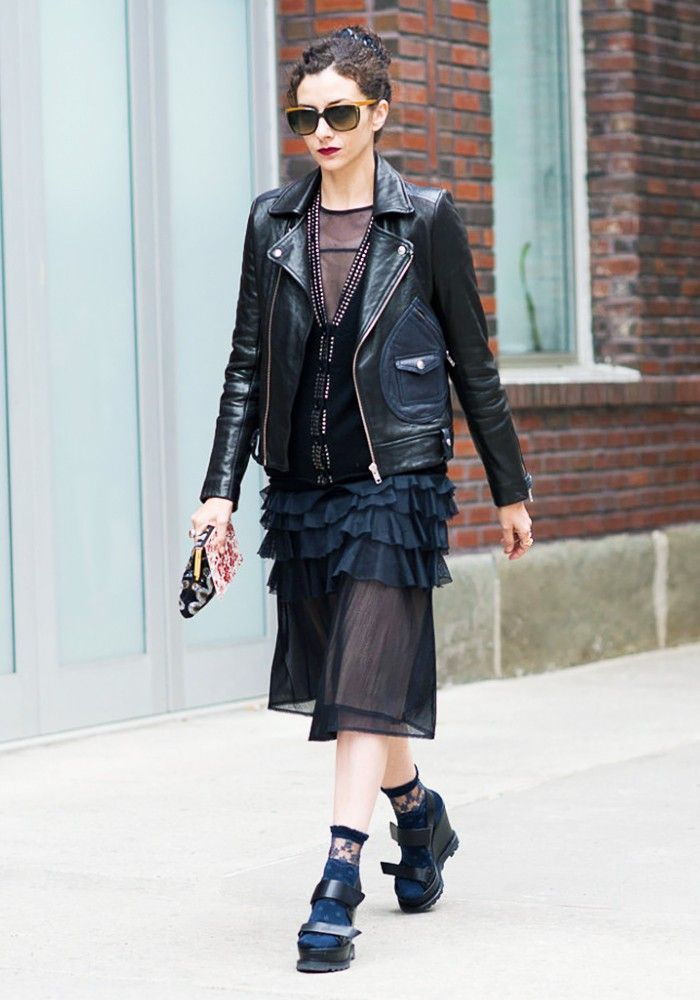 c2445d7665c9d The Right Way to Wear Socks With Open-Toe Shoes | Street Style | Open toe  shoes, Socks, heels, Fashion