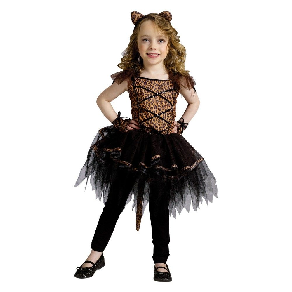 38a025267 Girls  Ballerina Leopard Toddler Costume 24m-2t