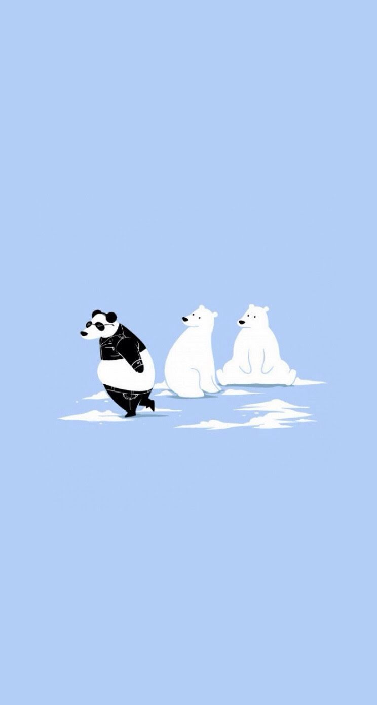Migrate Polar Bear Cute & funny iPhone wallpapers
