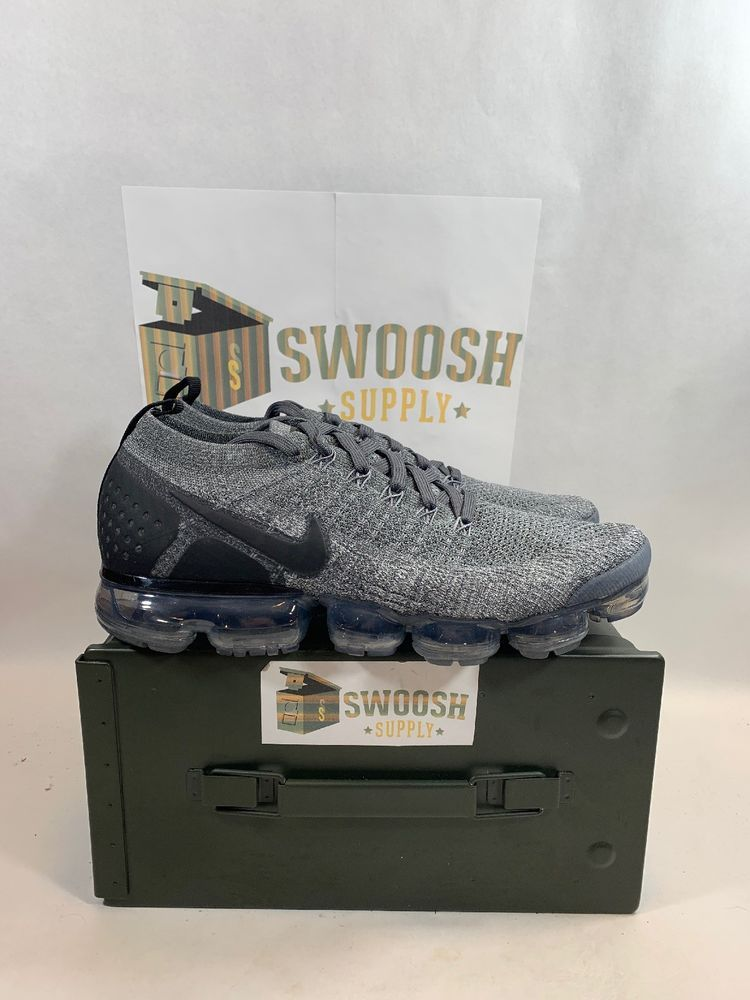 2adc3b29f8e5c Nike Men s Air Vapormax Flyknit Running Shoes Grey Black 942842-002 Size  10.5  Nike  RunningShoes