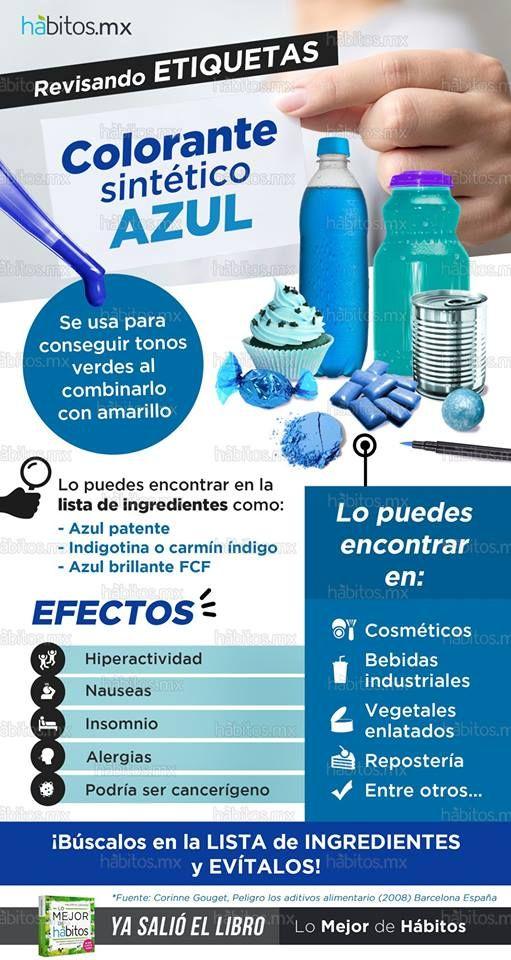 Revisando etiquetas… Colorante sintético AZUL | Comida saludable ...