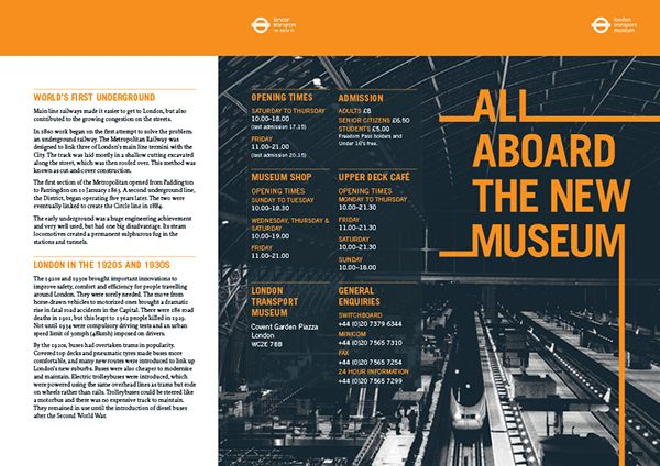 Design a DL roll and fold membership brochure for the London ...