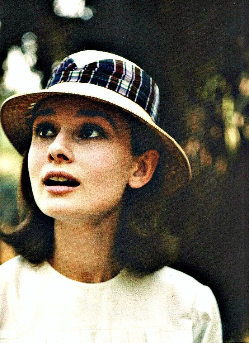 17c88dd6d0e66 Audrey Hepburn. Looking up. Through the lens of Leo Fuchs.