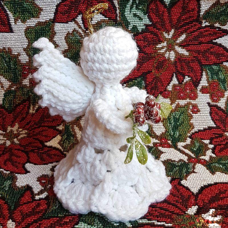 Mistletoe Christmas Angel Ornament Pattern