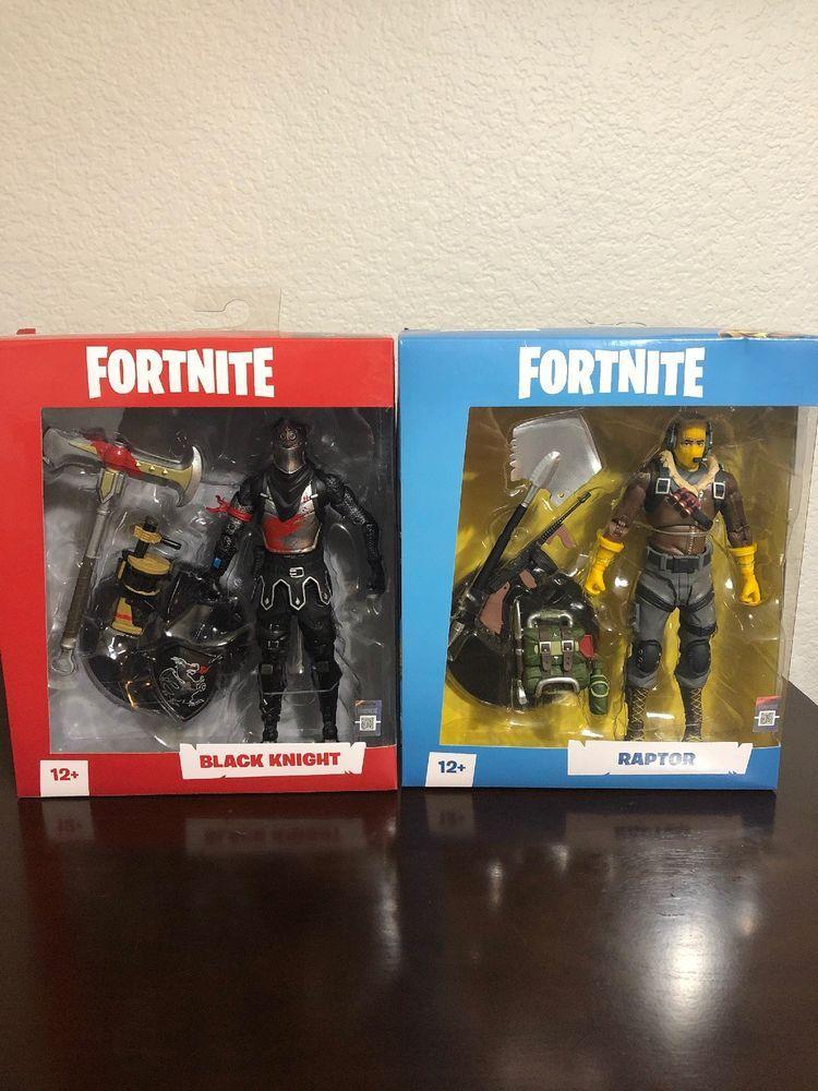 Fortnite Raptor Black Knight 7 Inch Figure Mcfarlane Toys Bundle