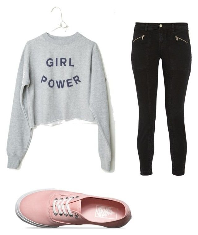 """Untitled #40"" by ashlyn132 ❤ liked on Polyvore featuring J Brand and Vans"