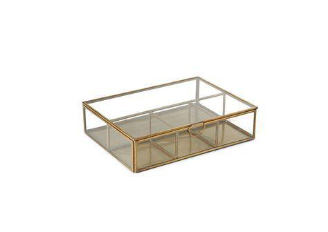 boite bijoux transparente en laiton dor et verre de. Black Bedroom Furniture Sets. Home Design Ideas