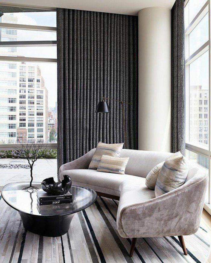 joli canapé arrondi d\'angle pour le salon chic et moderne | 异形沙发 ...
