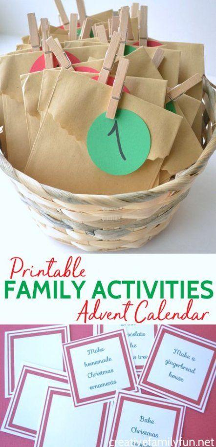 22+ Ideas diy christmas kids activities advent calendar for 2019 #adventcalendarideasdiy
