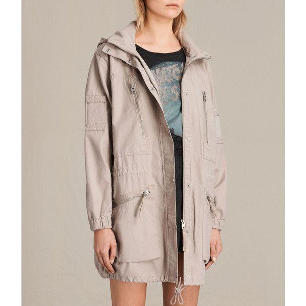 6e150705584ec AllSaints Skyler Parka ( 468) via Polyvore featuring outerwear ...