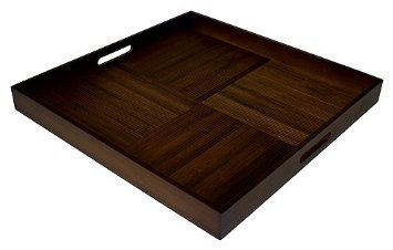 Amazon.com: Simply Bamboo Extra Large Square Chocolate Brown Serving Tray:  Kitchen U0026