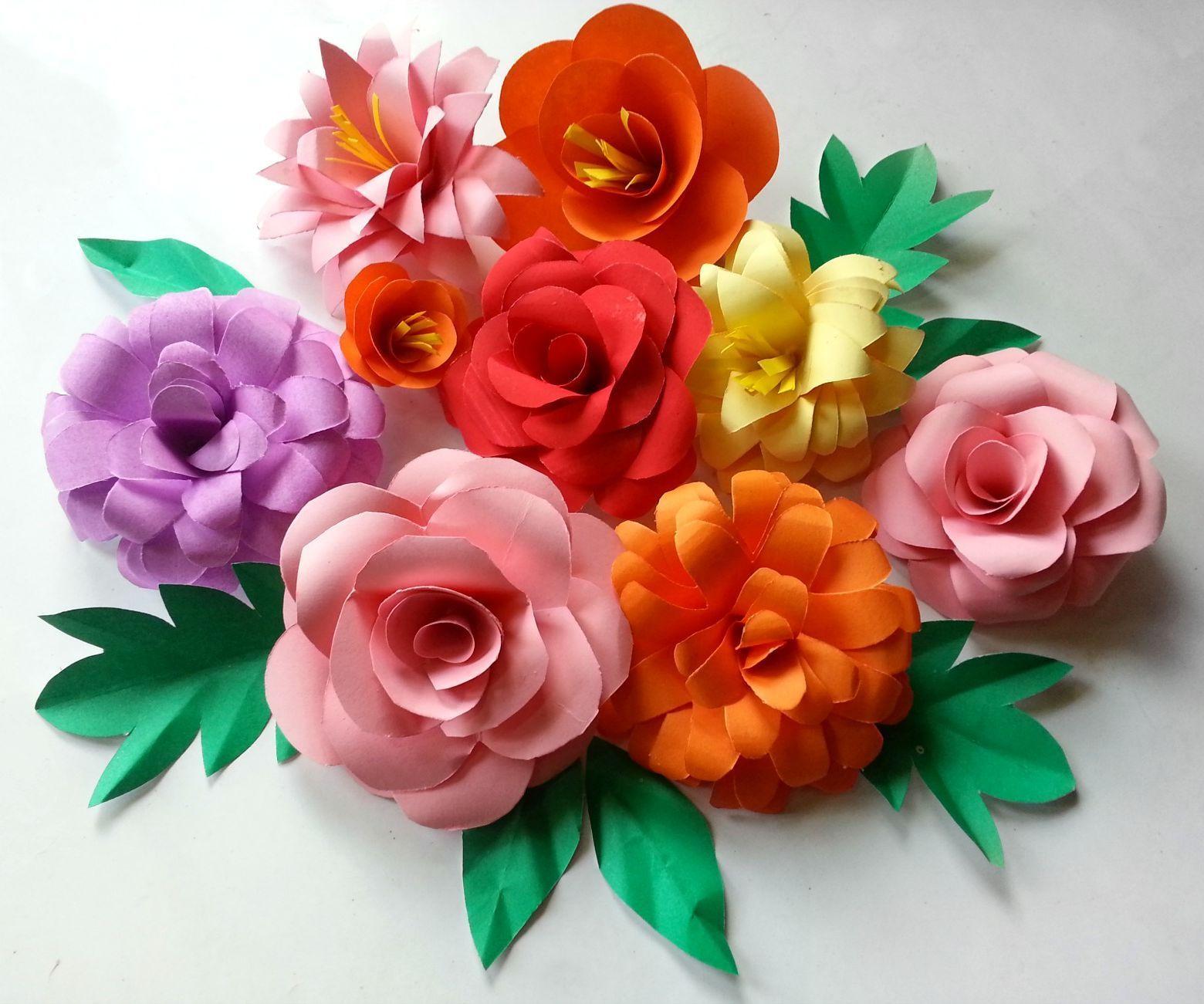 Приглашения, как сделать красивые цветы из цветной бумаги своими руками