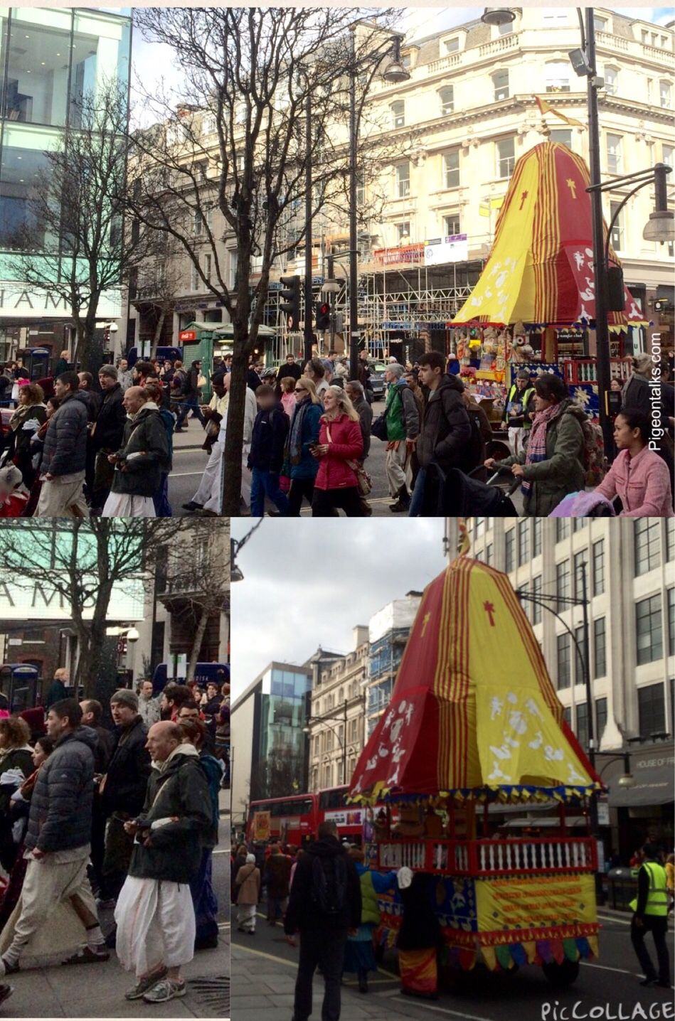I love it when Harikrishnas take over Oxford Street, they're always so happy | #london #oxfordstreet #Harikrishna #pigeontalks