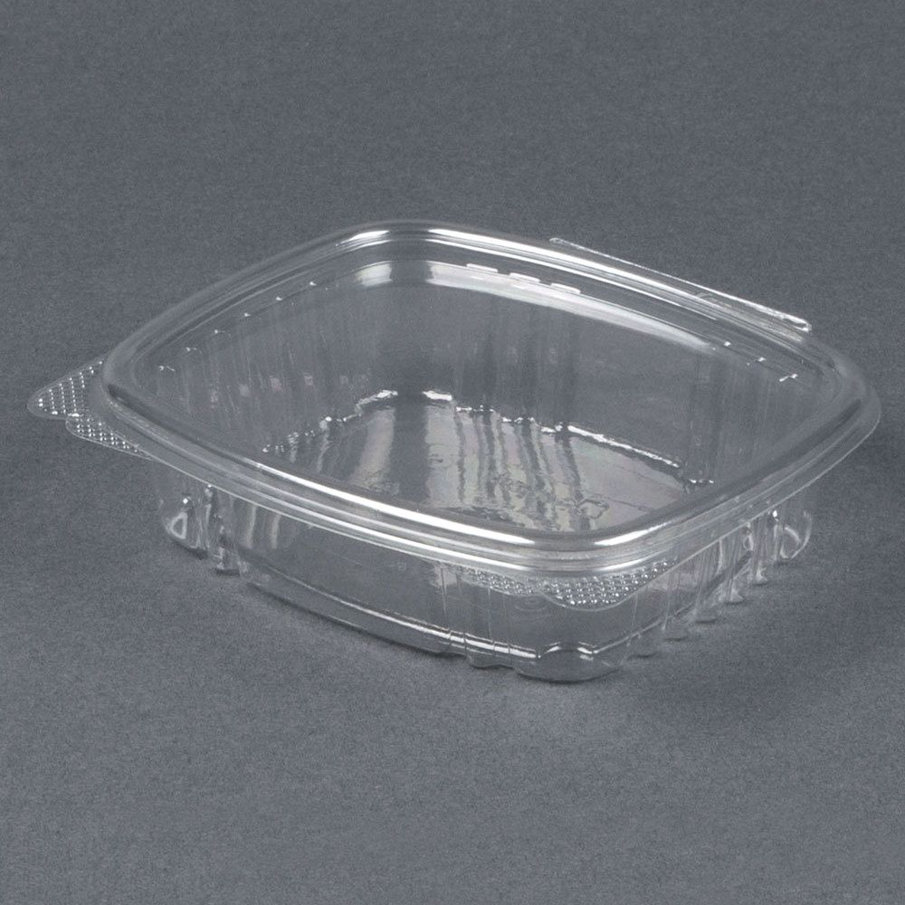 Genpak Ad08 8 Oz Clear Hinged Deli Container 100 Pack Take