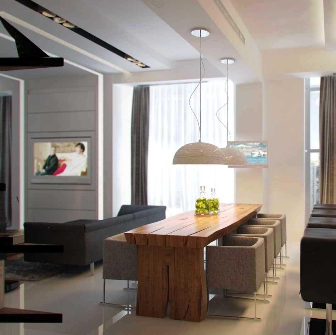 Decora o de sala de jantar 35 op es de decora o for Salas modernas