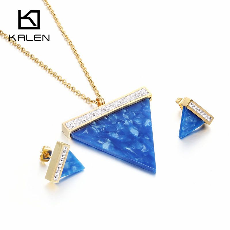 Stainless Steel Indian / Pakistani Gold PLated Glass Triangle ...