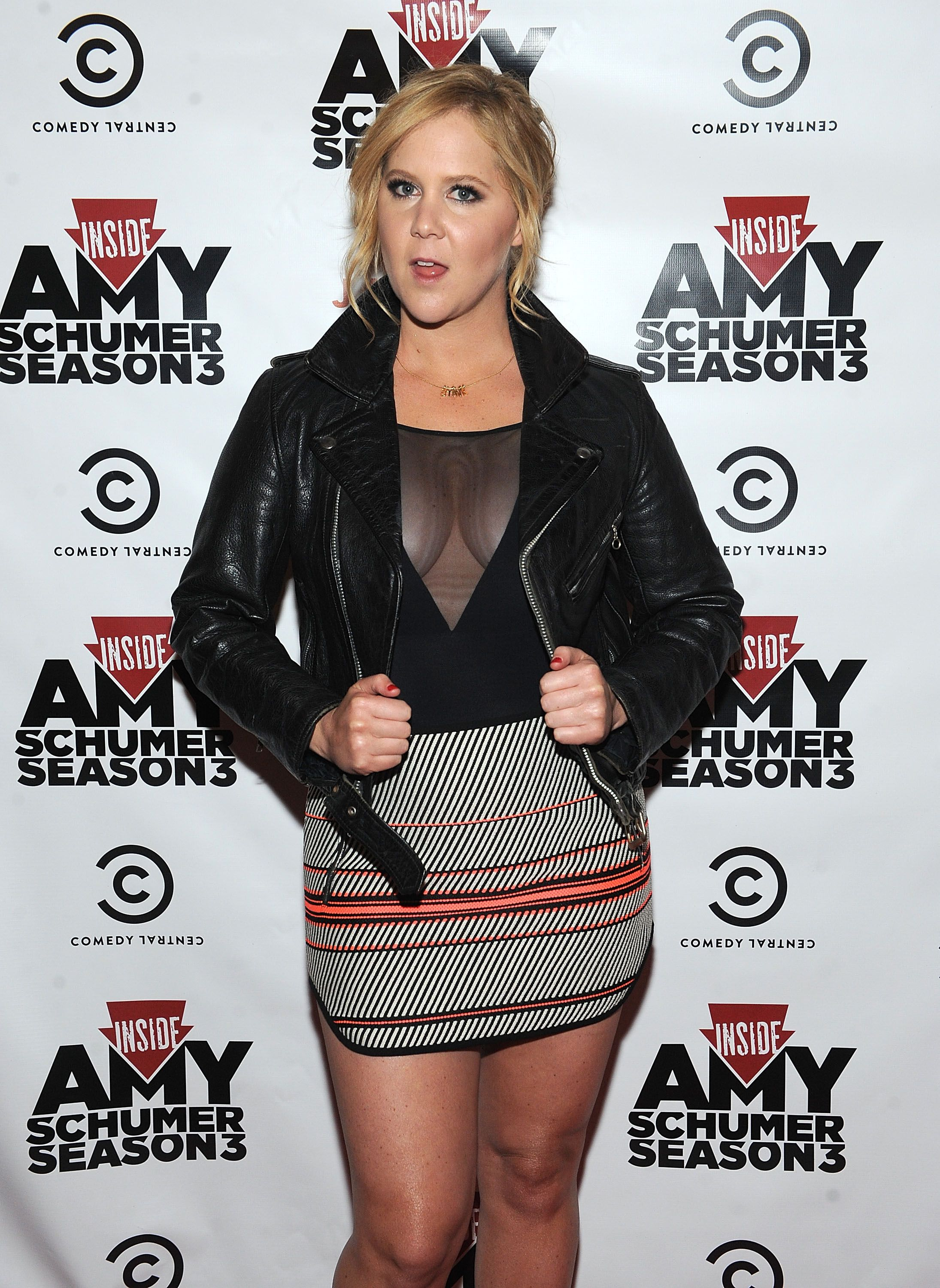 Amy Schumer Nude Scene this skirt is too short for me, but i like everything else