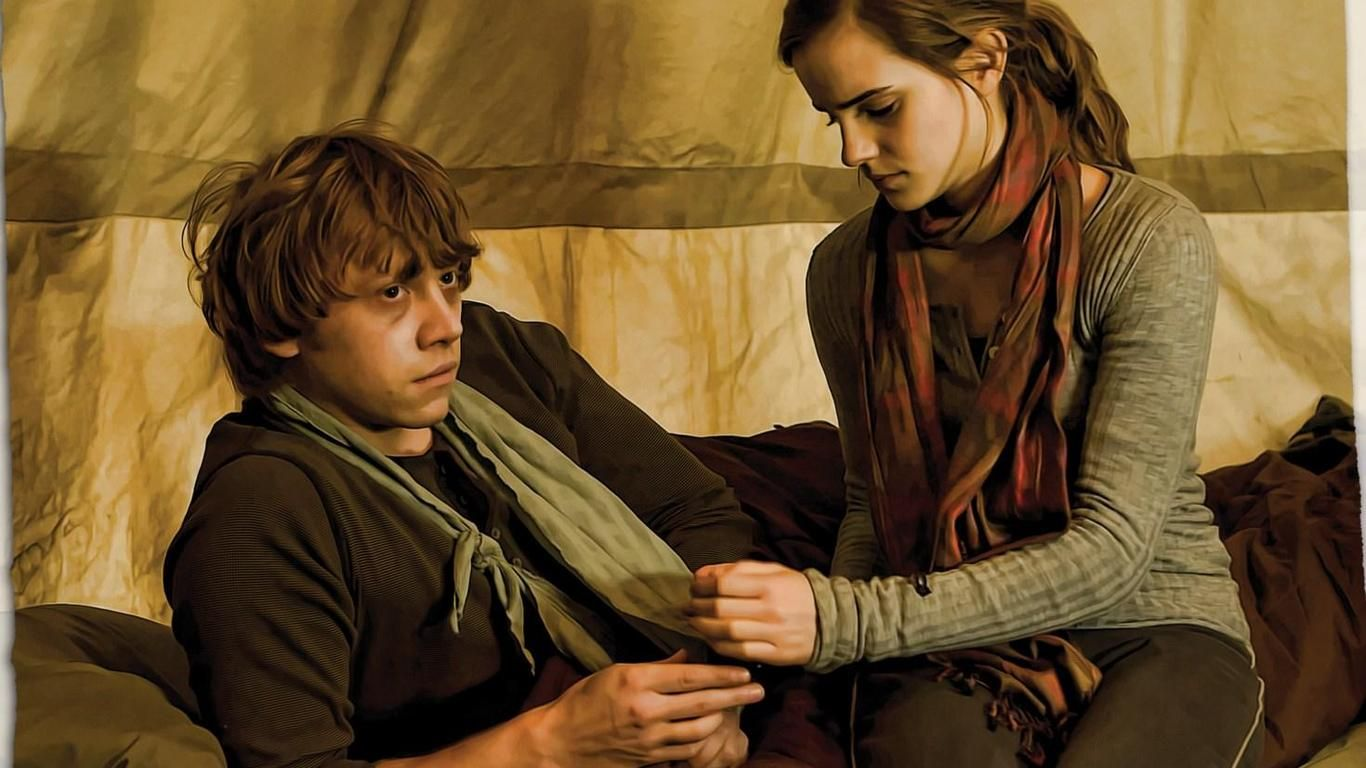 Image result for Hermione Granger & Ron Weasley