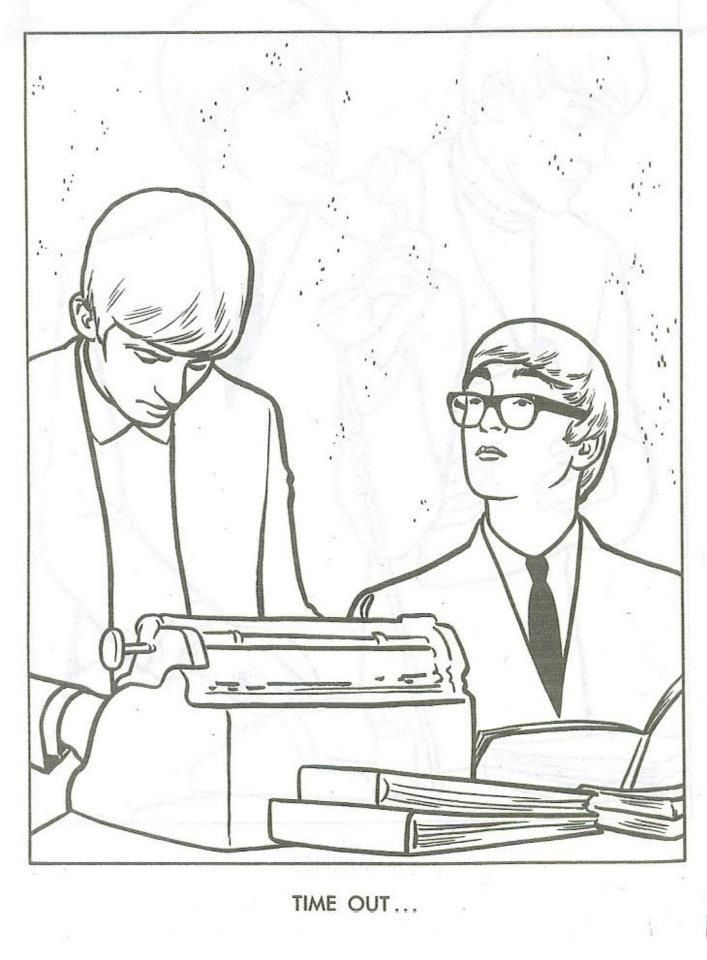 The Beatles Coloring Page 17 | I\'ll Follow The Sun | Pinterest