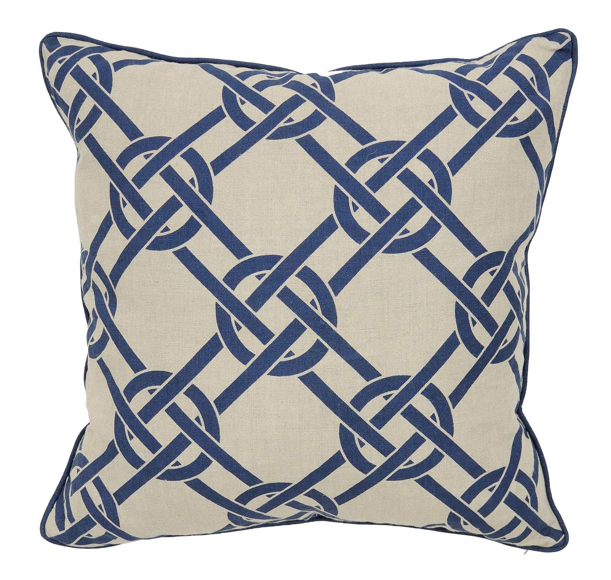 Villa Home Seafarer Linen/ Cotton Catalina Accent Pillow