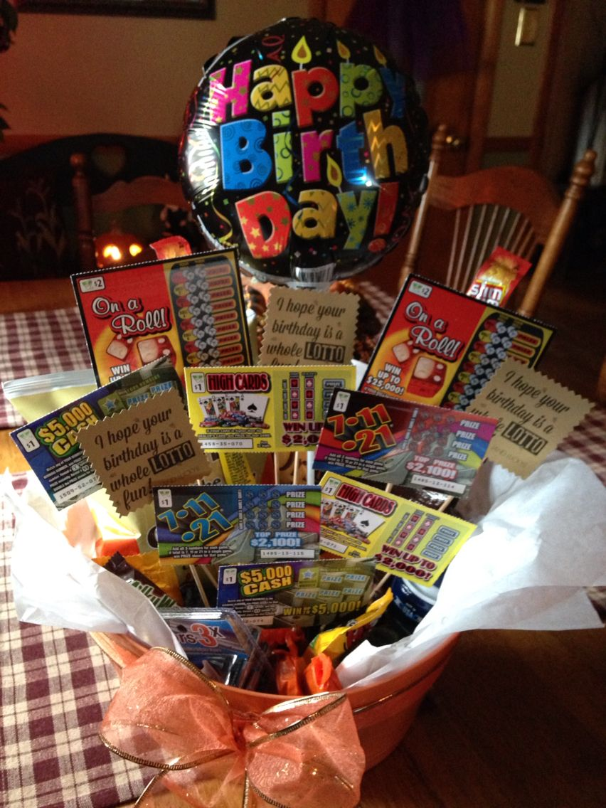 Lottery Ticket Bouquet For Dads Birthday He Loved It
