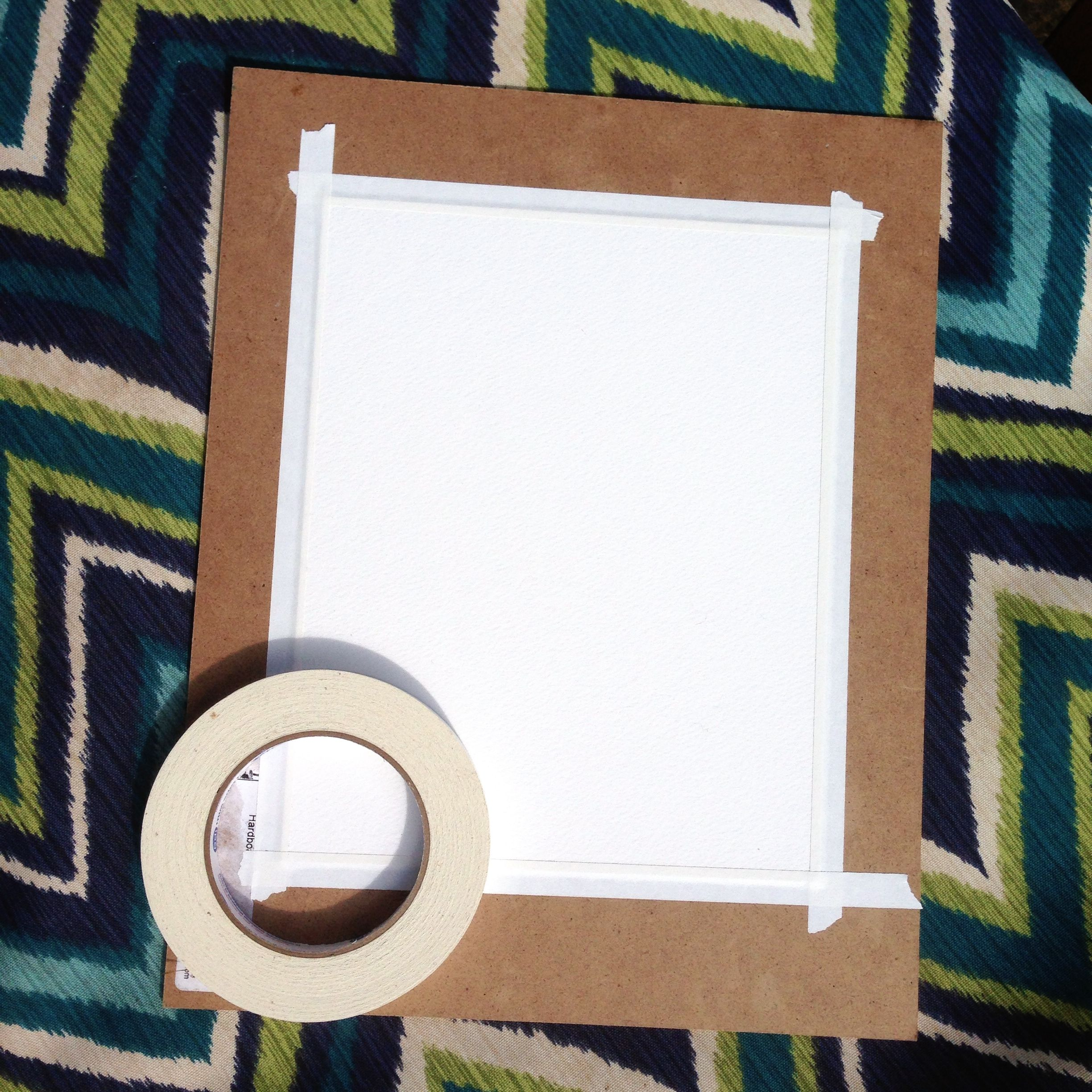How to stretch watercolor paper quickly and easily. This