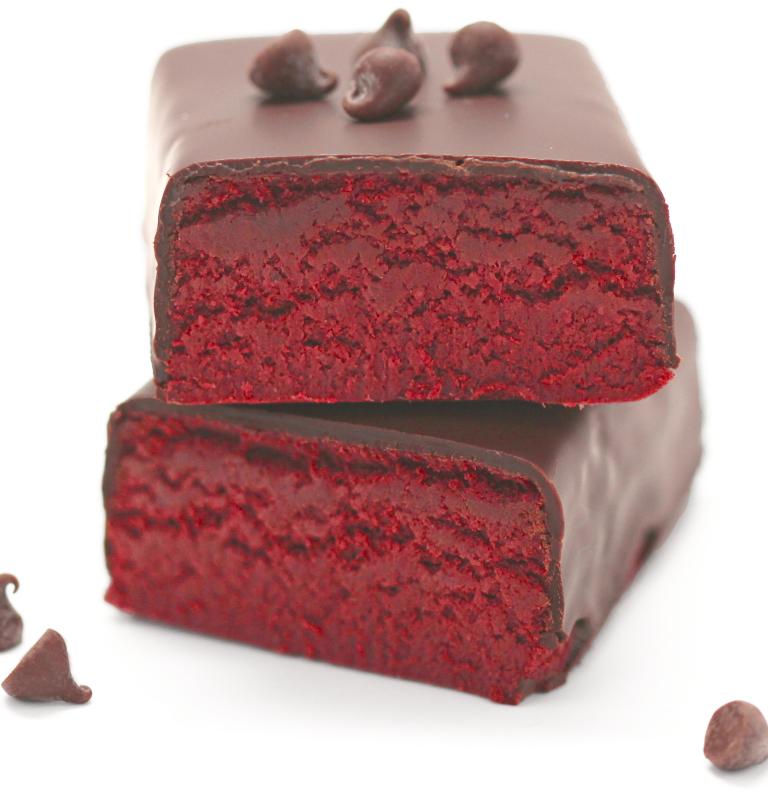 Healthy Red Velvet Fudge DIY Protein Bars Recipe