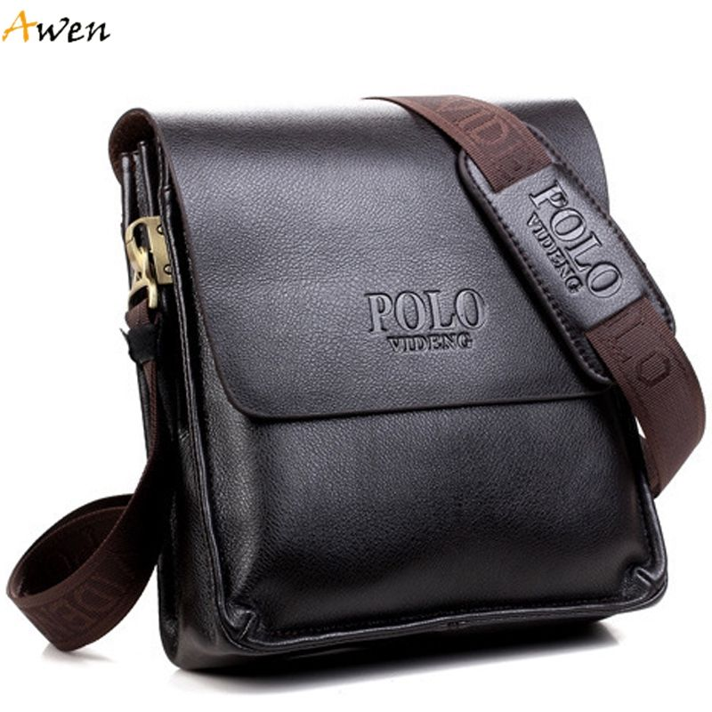 Awen famous brand design leather men bag casual business messenger ...