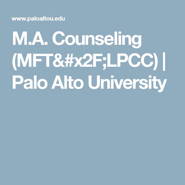 M.A. Counseling (MFT/LPCC) | Palo Alto University ...