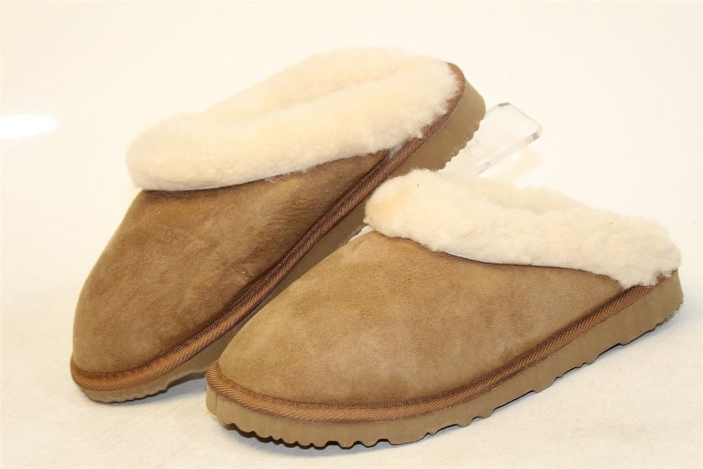 bd0a34cf227 UGG Vintage NEW Clugette Womens 6 Chestnut Suede Slippers Shoes ...
