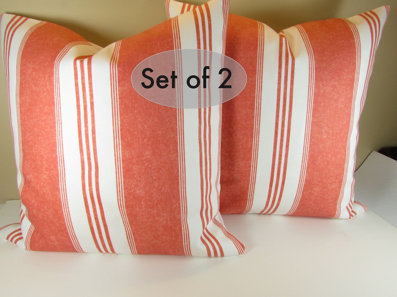 Wondrous Set Of 2 Pillows Beach 18 X 18 Striped Decorative Throw Gmtry Best Dining Table And Chair Ideas Images Gmtryco