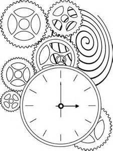 coloring pages clock | Steampunk Clock Drawing Kids pages - time clock | Art of ...