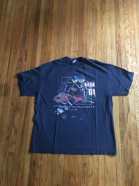 the best attitude d6e1a 99372 Vintage Columbus Blue Jackets Rick Nash Reebok NHL Hockey T ...