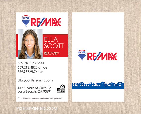 Business cards remax kkklinton remax business cards realtor business cards real estate agent friedricerecipe Choice Image