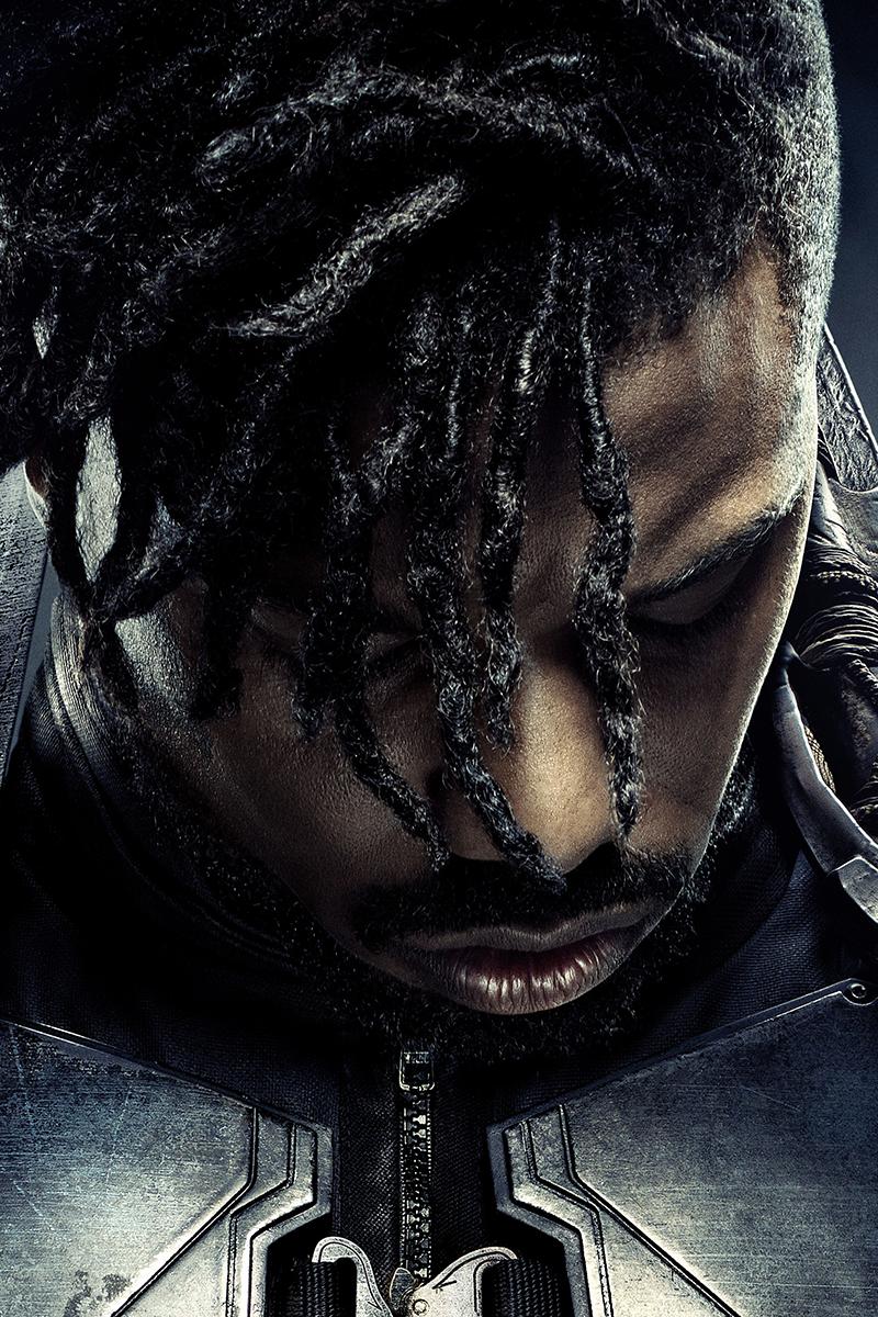 Erik Killmonger Black Panther Phone Wallpapers Marvel Black Panther Black Panther Marvel Movie Black