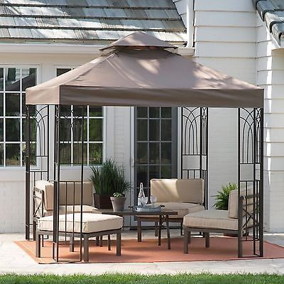 Patio Furniture Canopy Gazebo Canopy Tent Cover Shelter Shade 8x8 Vented  Outdoor Yard