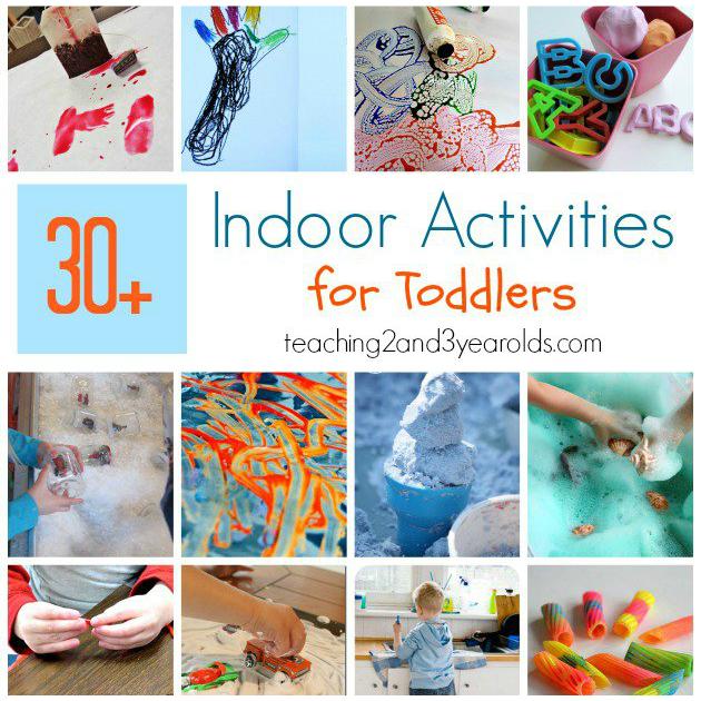 30 Toddler Indoor Activities Printable List Included