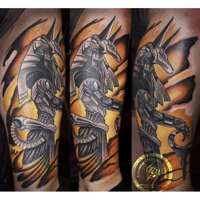 16 Symbolic Anubis Tattoos Tatuagem De Anubis Tatuagem Egito