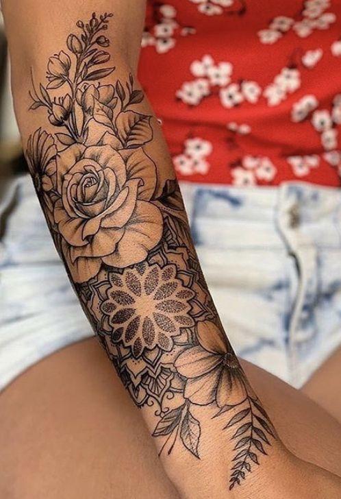 Tattoo unterarm blumen Unterarm Tattoo
