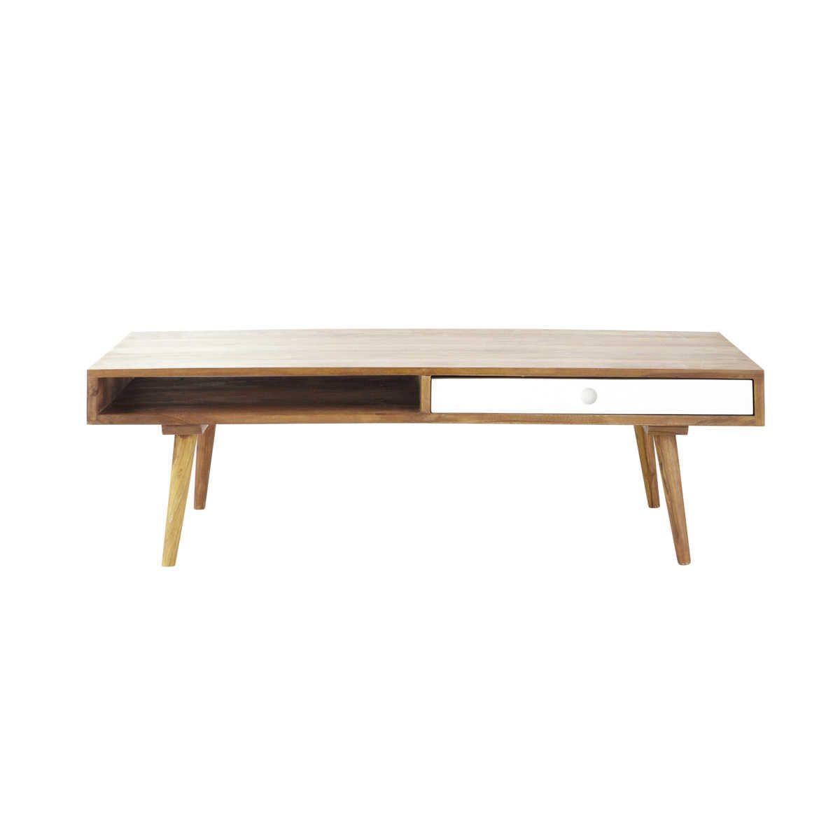 sheesham wood vintage coffee table w 120cm - Meuble Tv Vintage Andersen