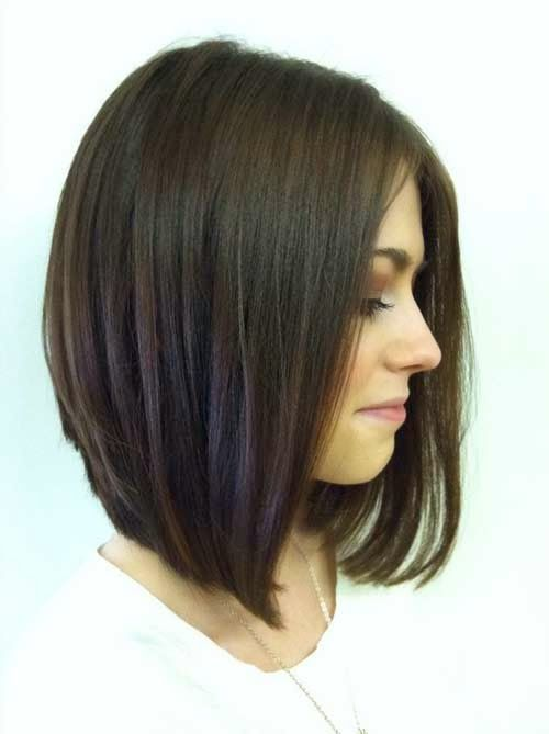 Long Inverted Dark Bob Hairstyle For 2015 2016 Hair Skin Health In