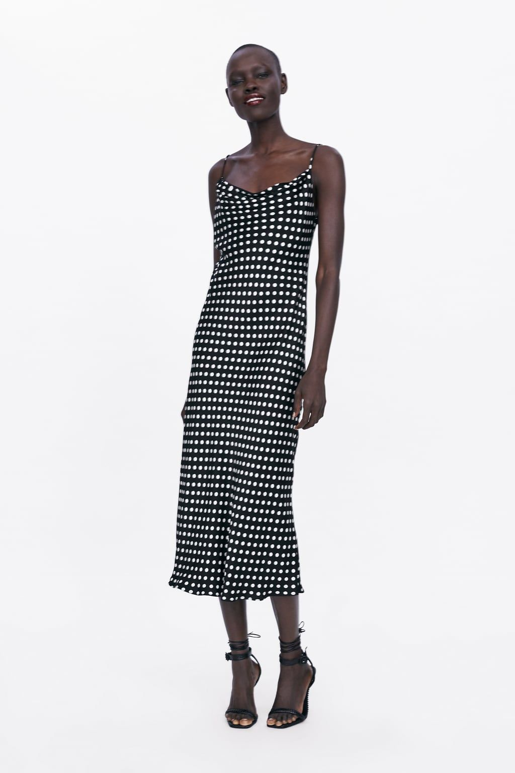 zara - woman - strappy dress | high street fashion, kleider