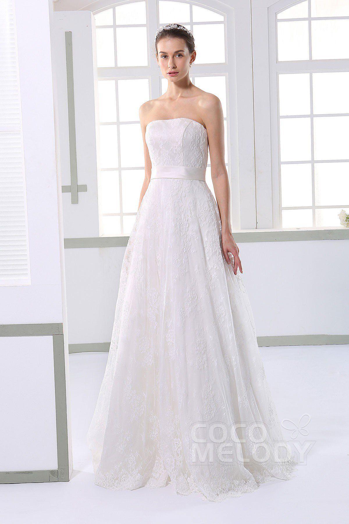 [ USD 529 ] SheathColumn Train Tulle Wedding Dress