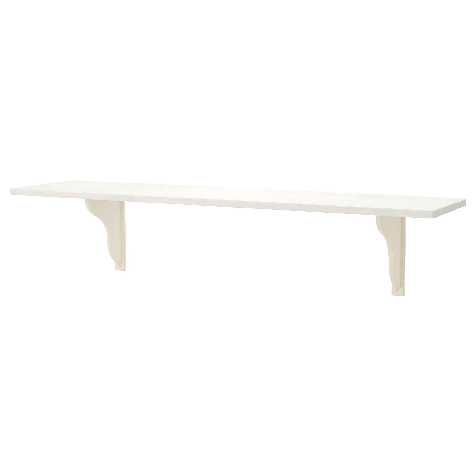 Ikea Shelves Hemnes Daybed In A Boys Bedroom: EKBY HEMNES / EKBY HENSVIK Wall Shelf, White White Stain